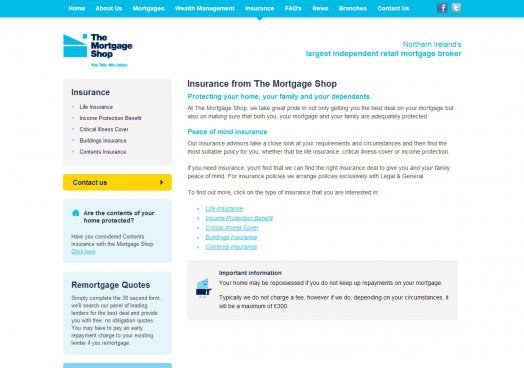 The Mortgage Shop website launched
